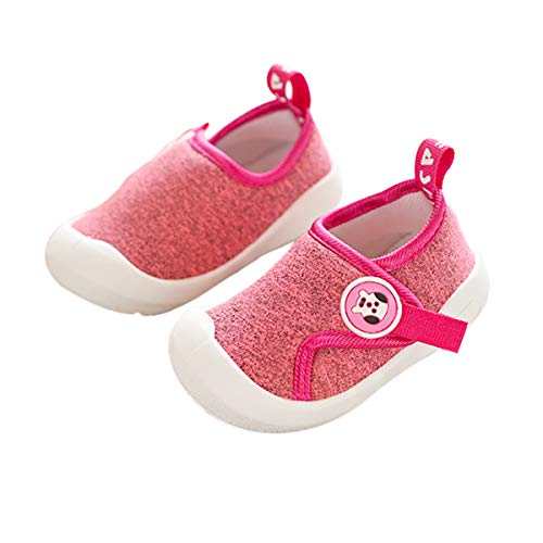 DEBAIJIA Zapatos para Niños 1-4T Bebés Caminata Zapatillas Malla TPR Material Antideslizantes Niñas Pequeños 20/22 EU Rosa (Tamaño Etiqueta 17)