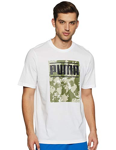 PUMA Camo Pack Logo Tee - Colore - Bianco, Misure - XL