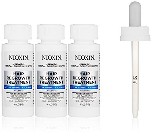 Nioxin Minoxidil Hair Regrowth Treatment For Men, 3 Count