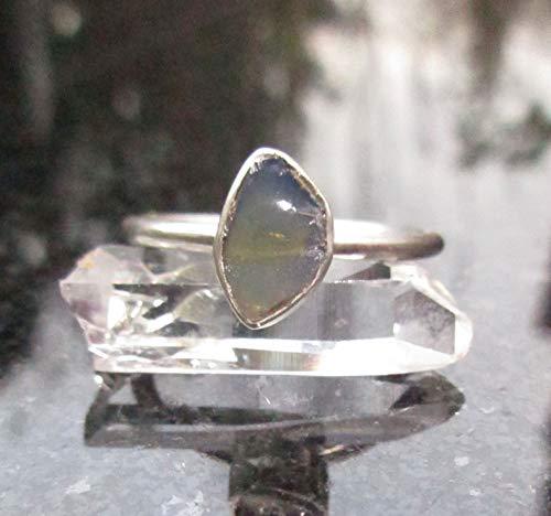 Oregon Blue Opal Ring Size 7 October Crystal Birthstone Ring