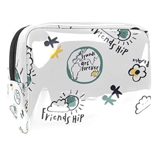 Bolsa de maquillaje portátil con cremallera bolsa de aseo de viaje para...