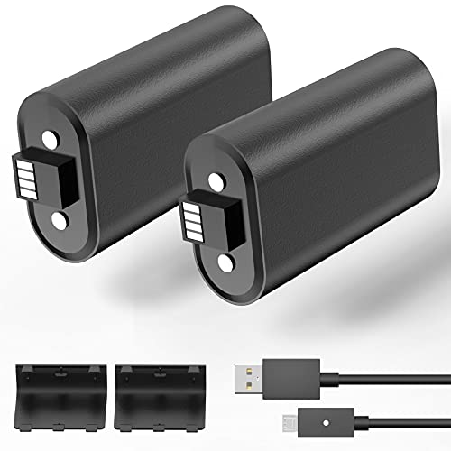 Xbox One Controller Battery Pack, Compatible with Xbox One/Xbox Series X|S Controller 1200mAh Ni-MH Rechargeable Battery with 5ft Micro USB Charging Cable