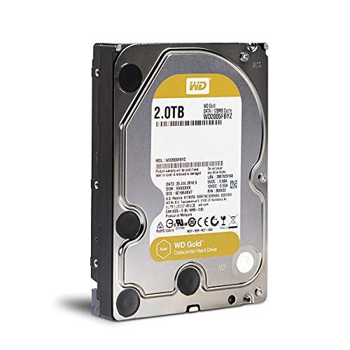 Western Digital Gold HDD 3.5 '' 2 TB 7200 RPM SATA III 6 GB/s 128 MB di Disco Rigido WD2005FBYZ