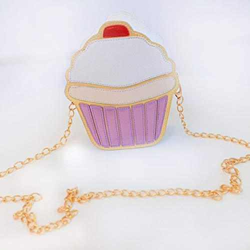 Heaviesk Umhängetasche Cartoon Frauen Eis Cupcake Mini Taschen PU Leder Kleine Kette Crossbody Mädchen Einzelnen Schulter Umhängetasche