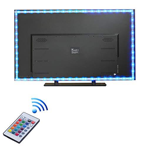 LED TV Retroilluminazione, Yizhet 2 m LED TV 5050 RGB Retroilluminazione Striscia, USB Alimentato TV Strisce LED Multicolore con Telecomando, 16 Colori e 4 Modalità per TV HD da 40-60 pollici