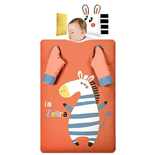 Dicke Baumwoll-Kinderschlafsack, Cartoon-Zebra, Abnehmbare Ärmel Und Innere Liner, Multifunktionale Anti-Kick-Quilt Für Babys, Nickerchen Schlafsack,Thick