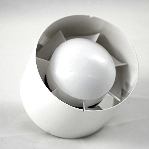 calimaero INLINE-100 mm buisventilator kanaalventilator inschuifventilator, 100 m3/h, 32 dB, 15 W