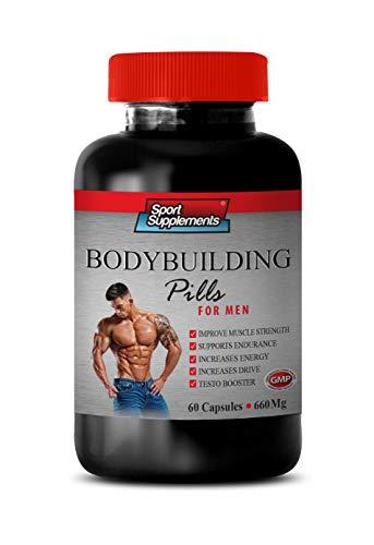 Muscle Mass Building Supplements - Bodybuilding Pills 660 MG - for Men - tribulus terrestris Extract for Men - 1 Bottle 60 Capsules