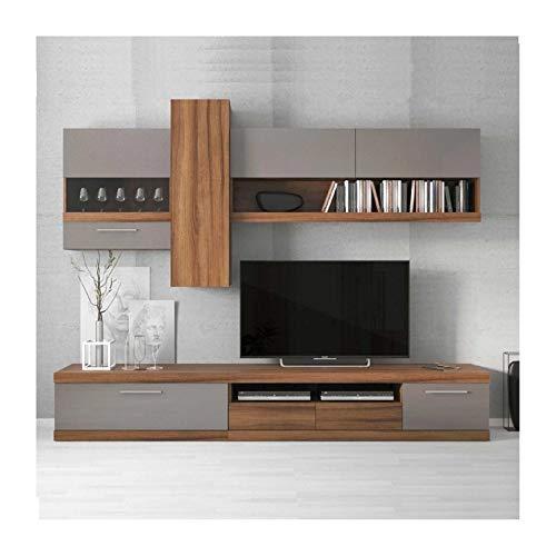 Azura Home Design Lucia - Mueble de TV (260 cm), color gris