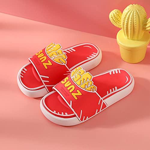 Zapatillas De Casa para Mujer Primavera,Zapatillas para NiñOs, NiñOs Y NiñAs Interior Y Al Aire Libre, Antideslizante Suave Bebé Lindo Cartoon Baby Beach Sandalias Sandalias Zapatillas-UE 24 (150mm /