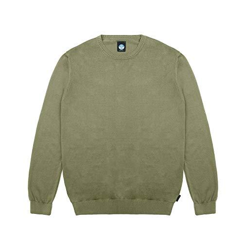 NORTH SAILS Homme T-shirt en coton avec manches longues et col rond – Coupe normale - Vert - XXL