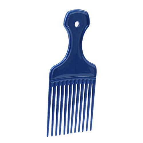 Kissherely 1Pc Afro Outils De Coiffure Insérez Cheveux Pick Peigne Long Engrenage À Dent Brosse À Cheveux (Bleu)