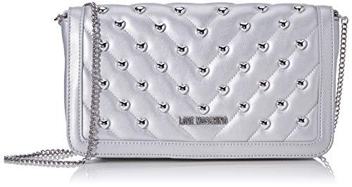 Love Moschino Jc4237pp0a, Pochette da Giorno Donna, Argento (Silver), 6x14.5x26 cm (W x H x L)