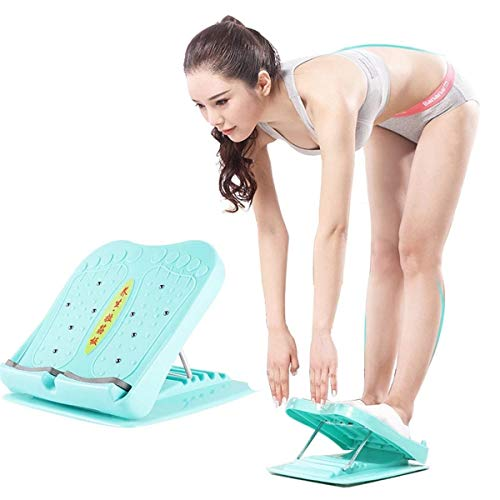 Tablero Inclinado,Tabla Estiramiento Pantorrilla Plegable Profesional Ajustable Yoga Fitness,Tabla Inclinada de Pie para Ejercicio Portátil para Eliminar Dolor y Relajar Las Piernas para Uso los Pies