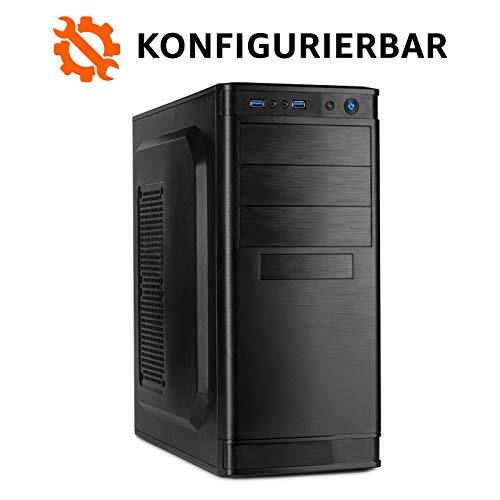 dcl24.de Office PC Intel - wählbar bis Intel i9-9900K, 32GB DDR4-3000, GTX1660Ti, 2TB SSD, 4TB HDD, Win10 Pro, Bundle-Option, Spiele Computer Desktop Rechner Konfigurator