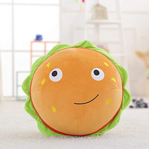 Fuyuhan Emoji Hamburger Food Toy Coussin à Décor De Jouets En Peluche Snack Cadeau Pour Enfant 50 Cm
