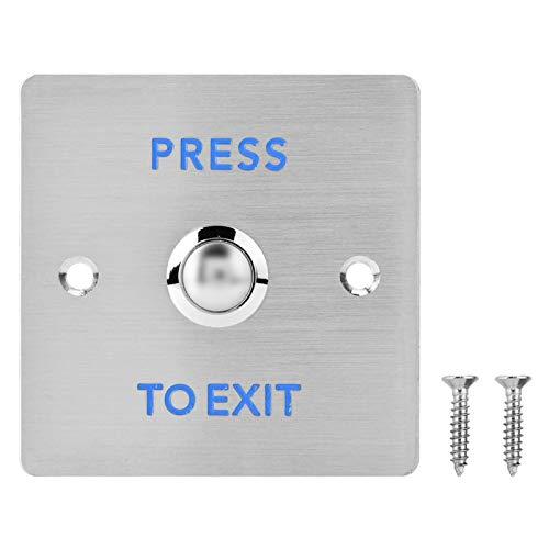 Interruttore a pulsante per porta, interruttore di rilascio a pressione per porta in acciaio inossidabile, pulsante per sistema di controllo accessi di sicurezza