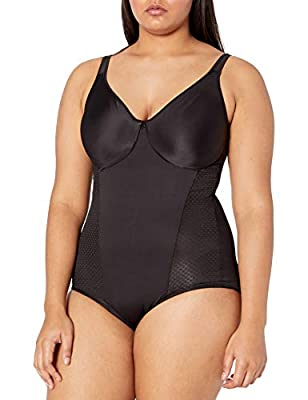 Bali Women's Passion for Comfort Minimizer Bodysuit, Black, 42C