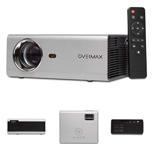 Overmax Multipic 3.5 Beamer Full HD Led Beamer WiFi Beamer Heimkino Projektor Eingebautes YouTube Lautsprecher mit Subwoofer HDMI USB D-Sub Fernbedienung Kompakte Größe