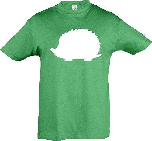 Kinder-Shirt; Tiermotiv Süßer Igel, Herbst, Natur; Farbe Kelly, Größe 152