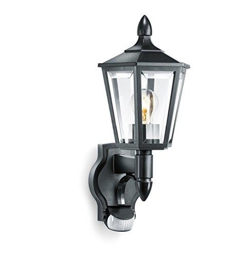 Steinel luminaire extérieur L 15 noir, applique avec détecteur de mouvement 180°, portée max. 10 m, design classique