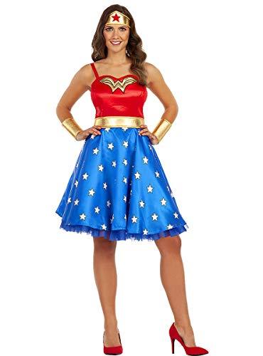 Funidelia | Disfraz de Wonder Woman clásico Oficial para Mujer Talla XL ▶ Mujer Maravilla, Superhéroes, DC Comics, Liga de la Justicia - Color: Multicolor - Licencia: 100% Oficial