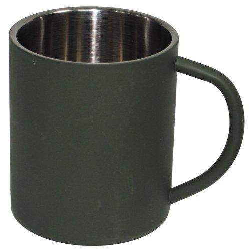 Fox Outdoor Tasse Isotherme en Acier Inoxydable Double paroi Vert Vert Olive 450 ML