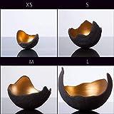 Lichtschale gold – M (20cm) – Beton schwarz – grau | Unikat handmade | Geburtstagsgeschenk | Einzigartiges Geschenk | Gartendeko | Muttertagsgeschenk - 9