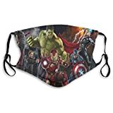 Marv-EL The Avengers Face Washable-Reusable, Cotton, Anti-Dust, Protection from Dust, Pollen, Pet...