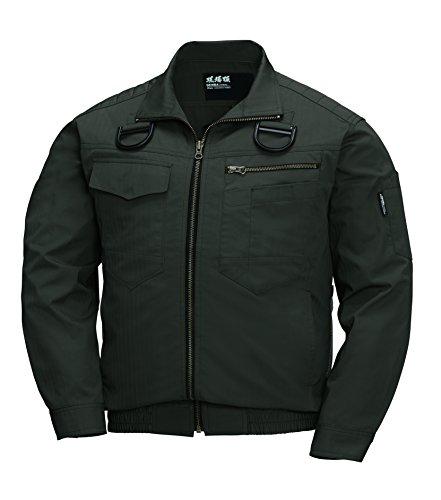 XEBEC ジーベック 空調服長袖ブルゾン(ハーネス対応) XE98102 62 アーミーグリーン 5L
