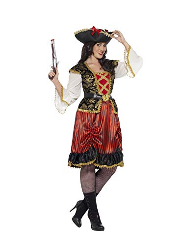 Smiffys womens Curves Pirate Lady Costume,Red,XL - US Size 18-20