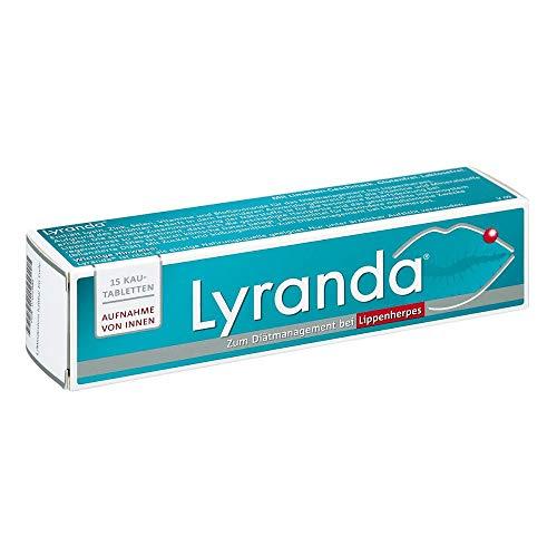 Lyranda bei Lippenherpes mit Limetten-Geschmack – 3000 mg L-Lysin hochdosiert aus Ihrer Apotheke - 15 Kautabletten