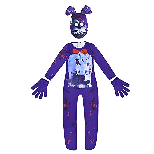 Five Nights at Freddy's Cosplay Costume FNAF 3D Foxy Jumpsuits Crazy Game Ballora Bodysuits Scary Nightmare Fredbear Playsuits Suits Nightmare Bonnie Outfits