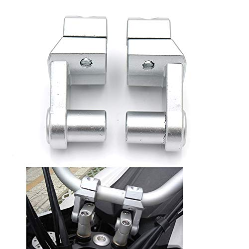 Kit de Abrazadera de Montaje de elevadores de Manillar de Motocicleta Universal 7 8 22 mm 1 8  28 mm Abrazadera de Barras (Plata)