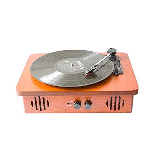 Vintage Vinyl Bluetooth-luidspreker, multifunctionele platenspeler, platte houten kist, draagbare platenspeler, platenspeler, bluetooth-luidspreker, koffer, platenspeler met Bluetooth Ha