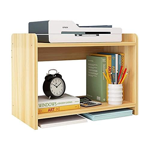 FAQUAN Estante Simple de Madera Estante Creativo para Impresora para el hogar Mesa Multifuncional Moderna Simple Estantería pequeña Adecuada para Escritorio Oficina