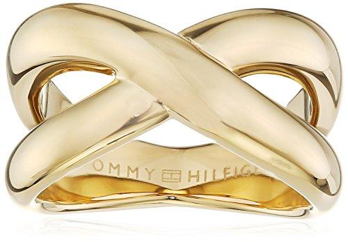 Tommy Hilfiger Jewelry – Anillo de mujer Classic Signature acero inoxidable, talla 52 (16,6) - 2700964B