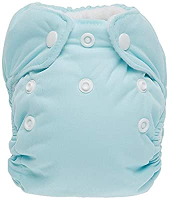 Thirsties Newborn All in One Cloth Diaper, Snap Closure, Aqua