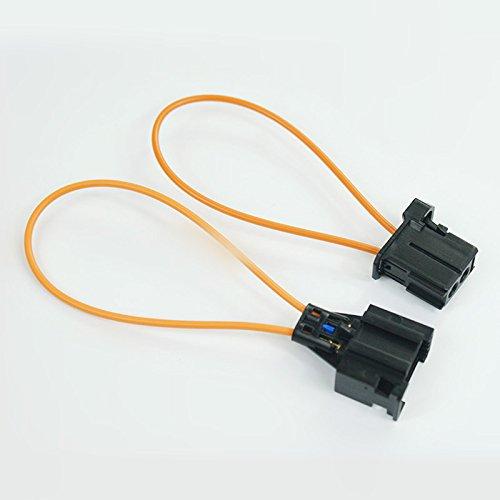 wroadavee Une paire de connecteurs à boucle de fibre optique mâle et femelle.