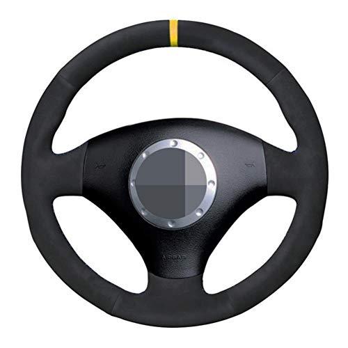 MDHANBK Funda de piel para volante de coche, para Audi A2 8Z A3 8L Sportback A4 B6 Avant A6 C5 A8 D2 TT 8N S4 S3 RS 6 RS 4