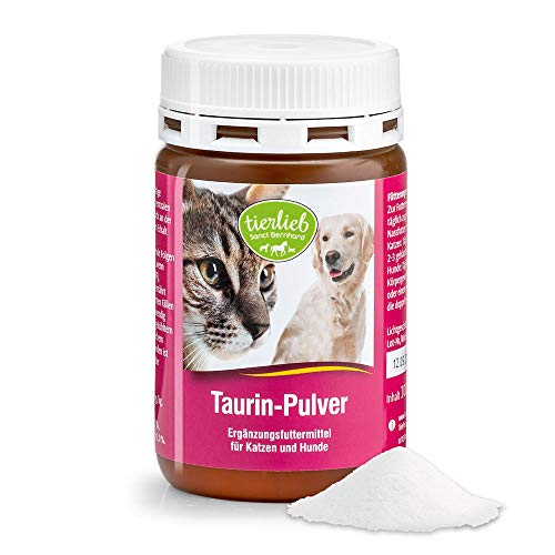 Sanct Bernhard tierlieb Taurin-Pulver Ergänzungsfuttermittel für Katzen und Hunde, Inhalt 100 g