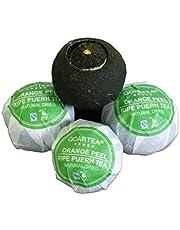 GOARTEA 100g (3.5 Oz) Nonpareil Supreme Natural Dried Xinhui Green Orange Peel ChenPi Citrus Puer Pu'er Puerh Pu erh Ripe Tea Té