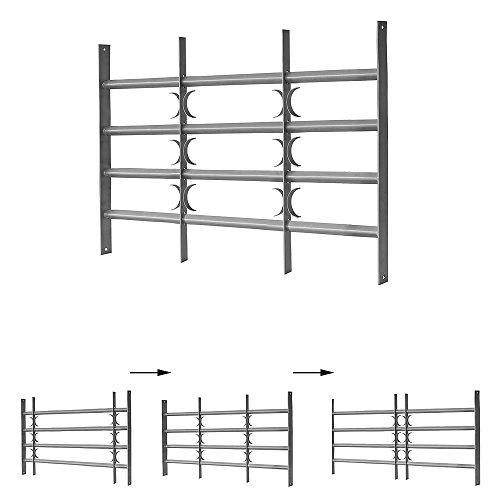 Melko Fenstergitter ausziehbar Einbruchschutz 600 x 500-600 mm Fenstersicherung Einbruchsicherung