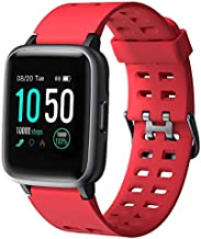YAMAY Smart Watch for Android and iOS Phone IP68 Waterproof, Fitness Tracker Watch with Heart Rate Monitor Step Sleep Tracker, Smartwatch Compatible with iPhone Samsung, Watch for Men Women Red