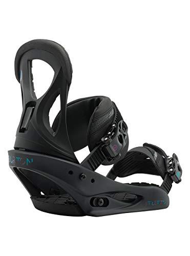 Burton Damen Stiletto Black Matte Snowboard Bindung, M