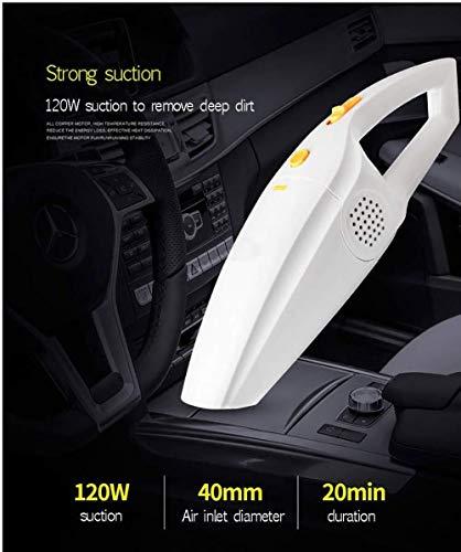 Autostaubsauger 120W Hochleistungs-Trocken- und Nass-GM-Staubsauger mit hohem Wirkungsgrad zur Verhinderung von Sekundärdiffusion (Color : White)