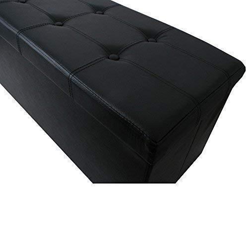 teprovo Cube Siège Tabouret Banc Siège Coffre Coffre de Rangement Pliable - Noir, 76x38x38