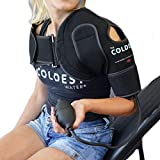 The Coldest Shoulder Ice Pack with Air Compression - Hot/Cold (Left/Right Reusable Shoulder Brace Wrap with Straps) - Ice Pack, tendinitis, overuse, Strains, Injuries and Post Rotator Cuff Surgery