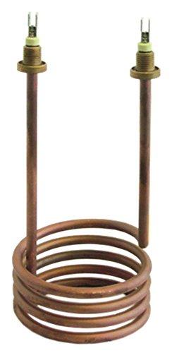 Rancilio - Radiador para cafetera S20 (1700 W, 230 V, 190 mm de altura, conector plano de 6,3 mm, 2 orificios de fijación de 1/4)