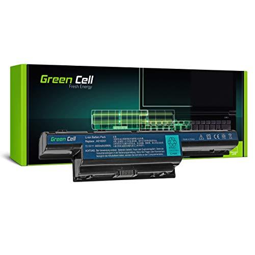 Green Cell AS10D81 AS10G3E BT.00603.111 BT.00603.117 BT.00603.124 BT.00604.049 BT.00605.062 BT.00605.065 BT.00606.008 BT.00607.125 BT.00607.126 Battery for Acer Laptop (4400mAh 11.1V Black)